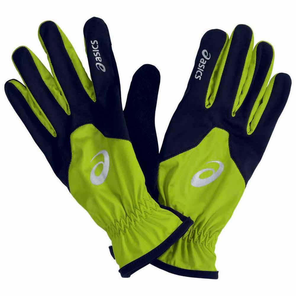 Asics Winter Gloves Green buy and offers on Runnerinn
