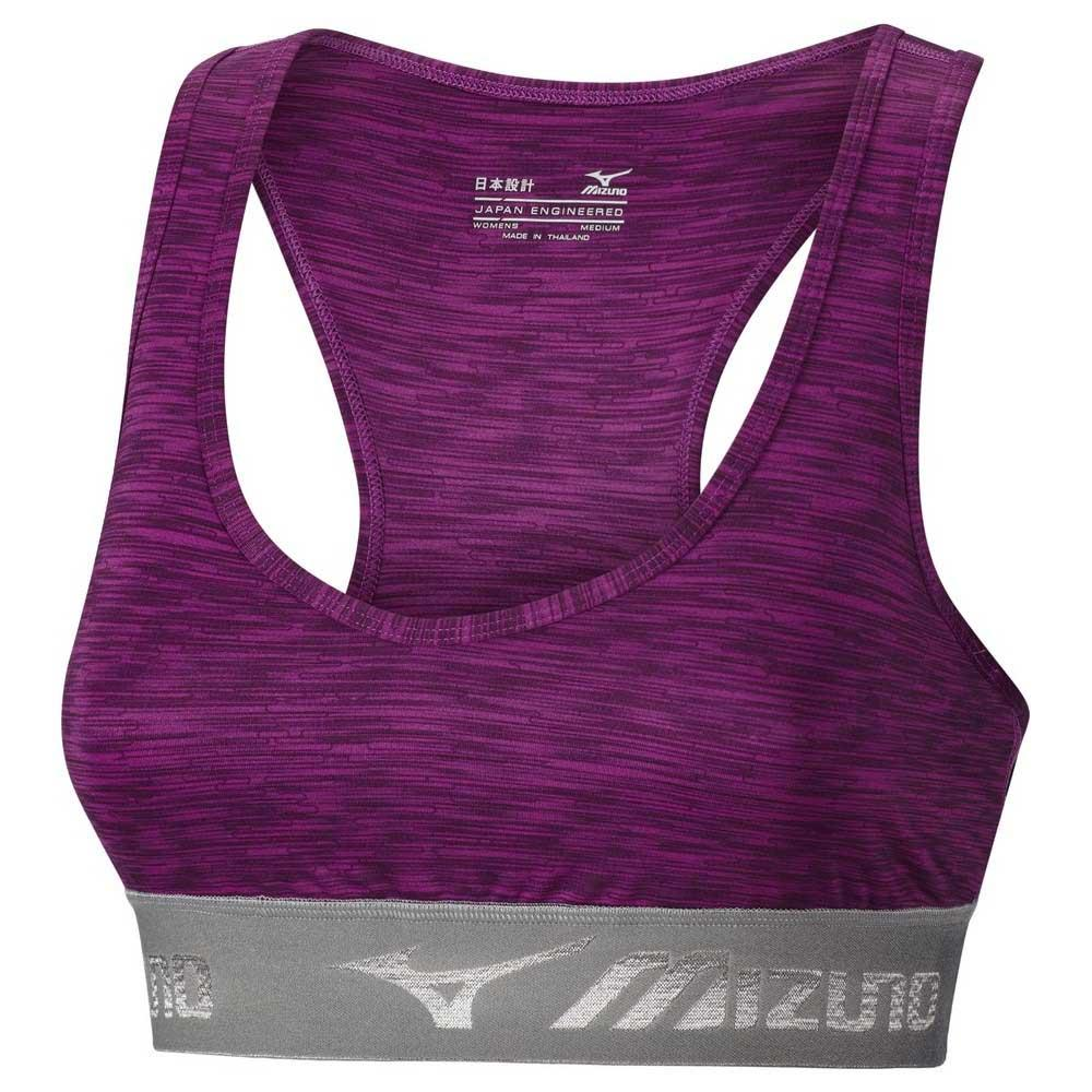 e5f2c8d4af98d Mizuno Alpha Printed Bra Purple buy and offers on Runnerinn