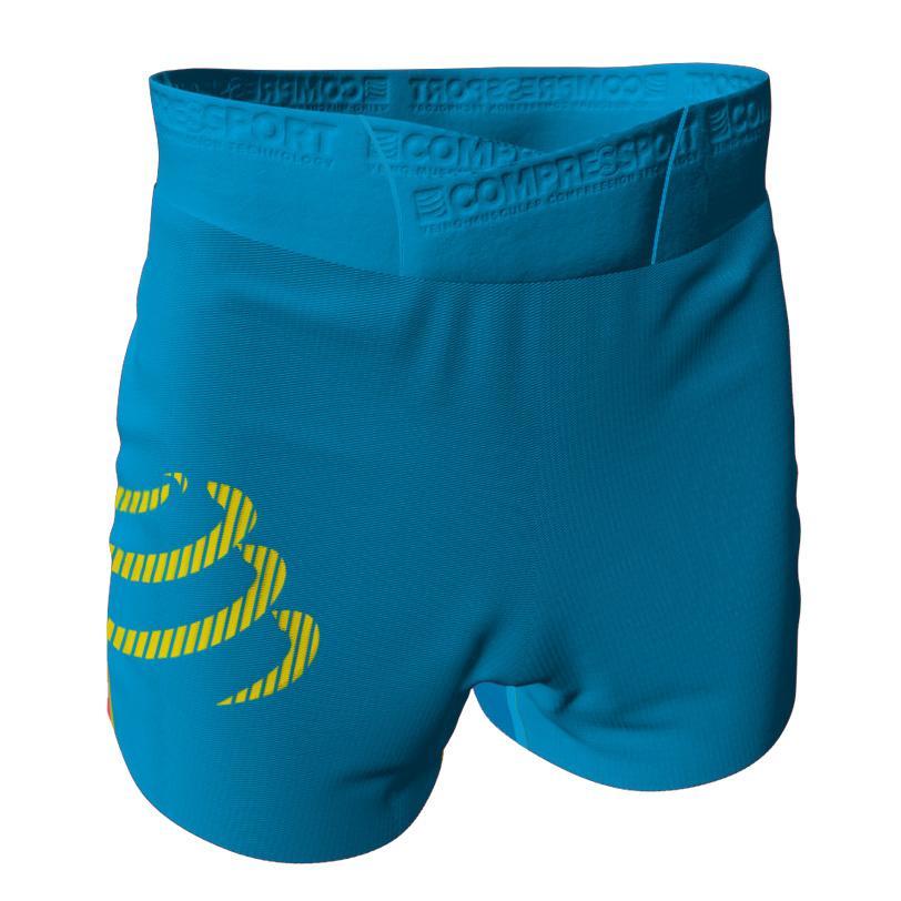 Compressport Men/'s Racing Split Overshort Blue