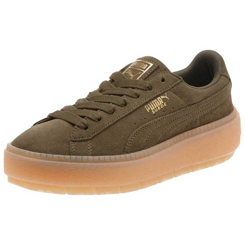 puma select suede platform trace verde dressinn. Black Bedroom Furniture Sets. Home Design Ideas