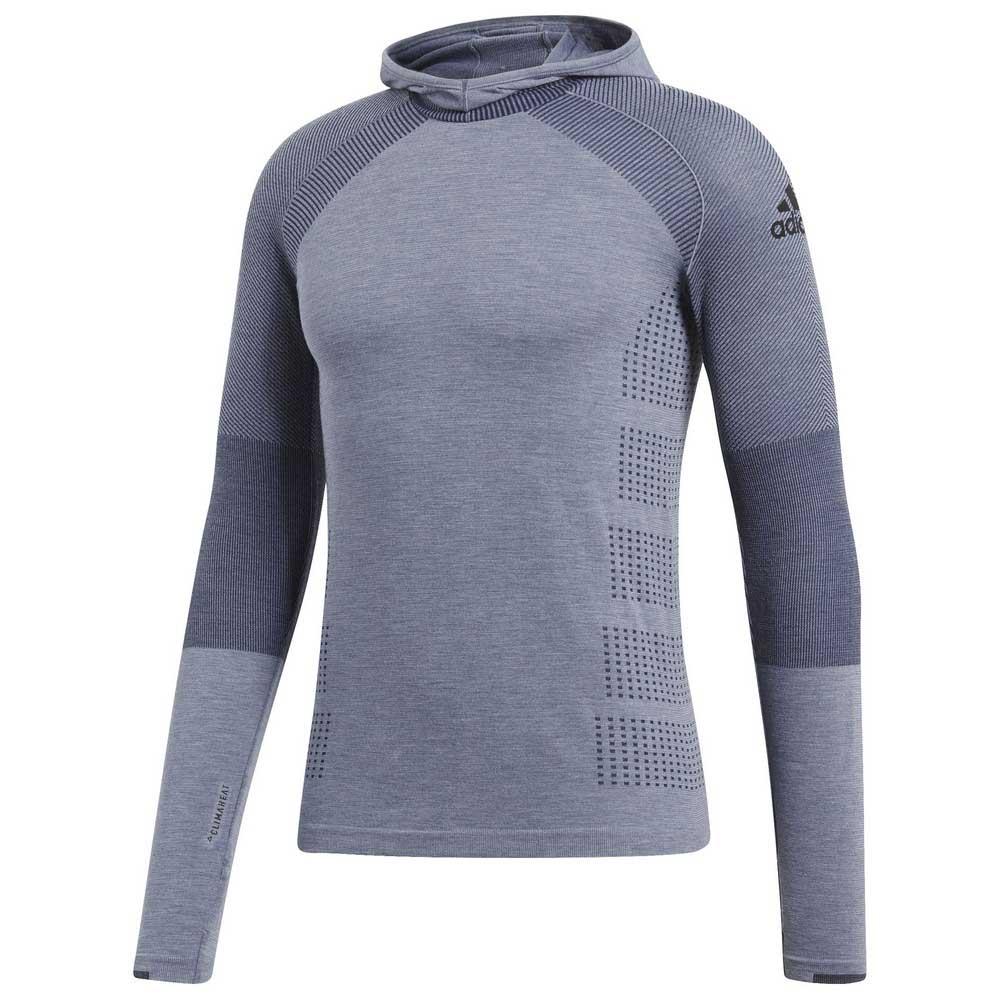 adidas Climaheat Primeknit Hoodie Niebieski, Runnerinn Bluzy
