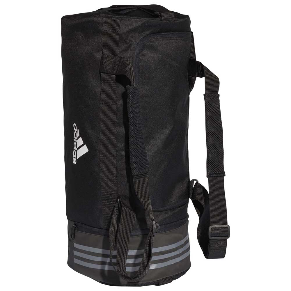 491e7e8af41 adidas Convertible 3 Stripes Duffel M Black, Runnerinn