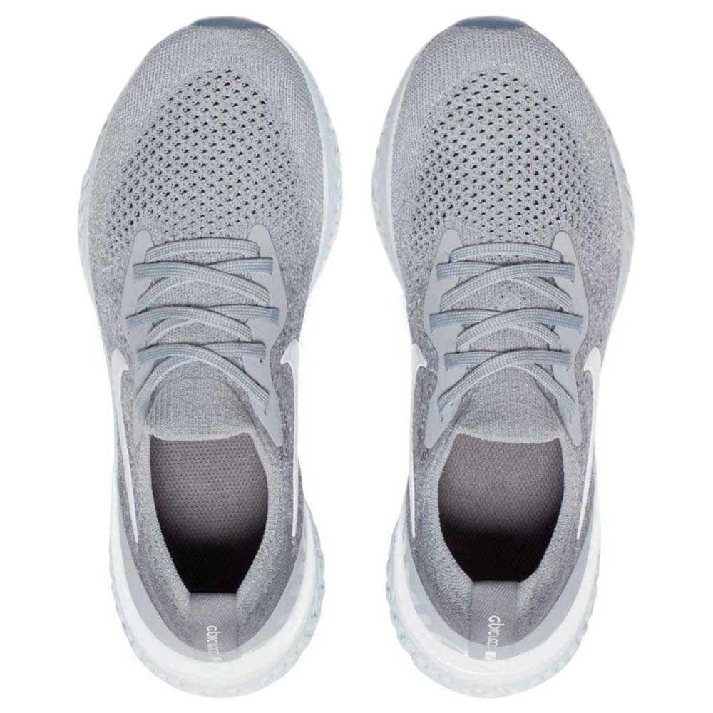 Nike Epic React Flyknit GS Grå køb og tilbud, Runnerinn