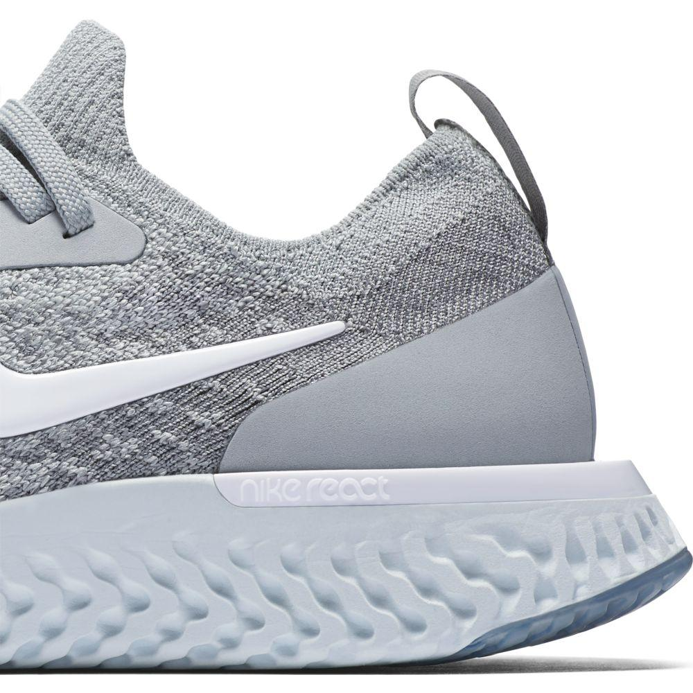 ffd019a3fb0eb Nike Epic React Flyknit GS Grey buy and offers on Runnerinn