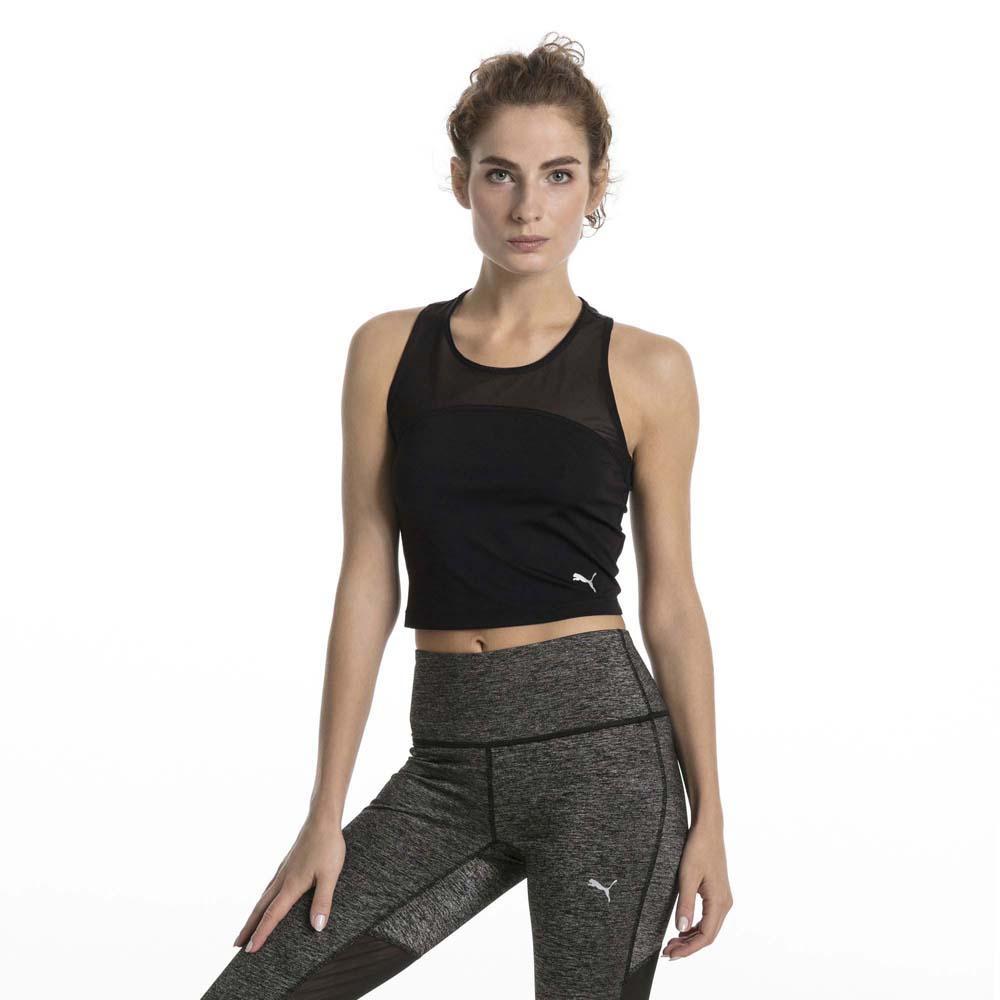 Puma Explosive Run Crop Sleeveless T-Shirt Black, Runnerinn
