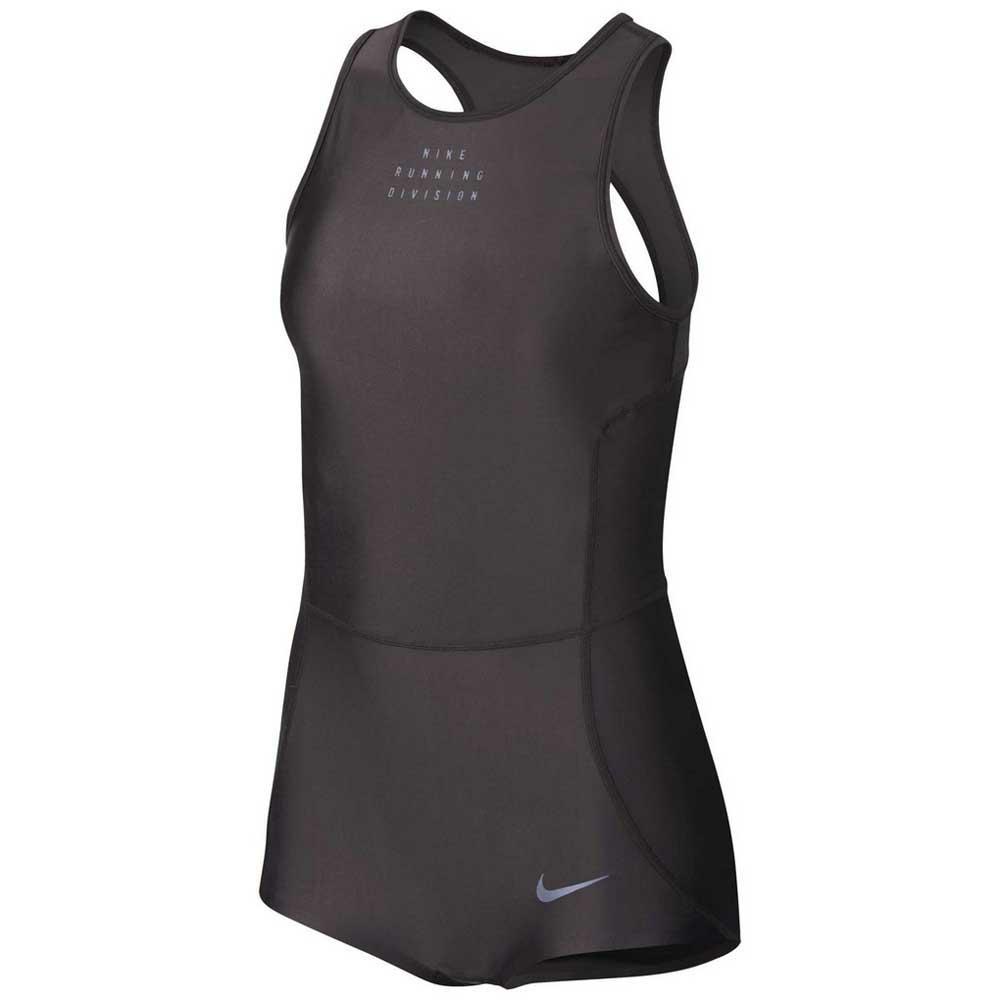 Nike Run Division Element Men's Sleeveless Running Hoodie L Gray Shirt Top Tank