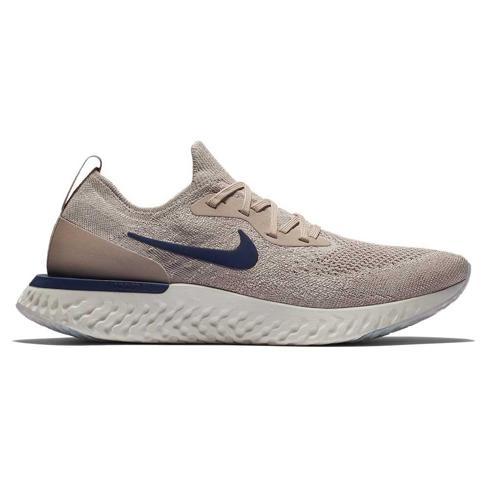 sale retailer 523f1 8561d Nike Epic React Flyknit Beige buy and offers on Runnerinn