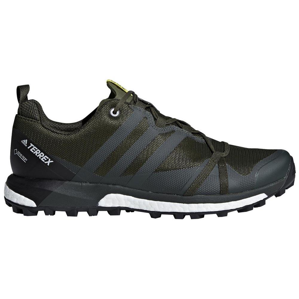 adidas PerformanceTERREX AGRAVIC GTX - Hiking shoes - basic green/shock yellow