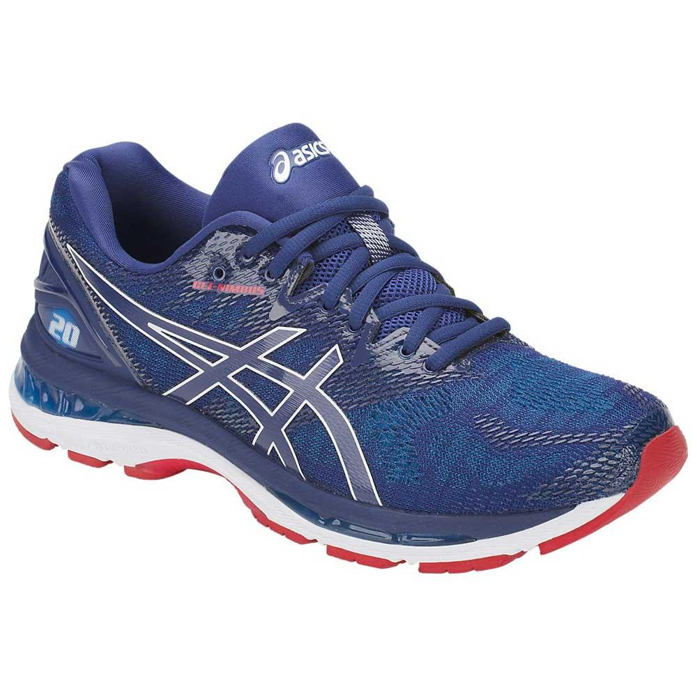 asics gel nimbus 20 extra wide bleu runnerinn. Black Bedroom Furniture Sets. Home Design Ideas