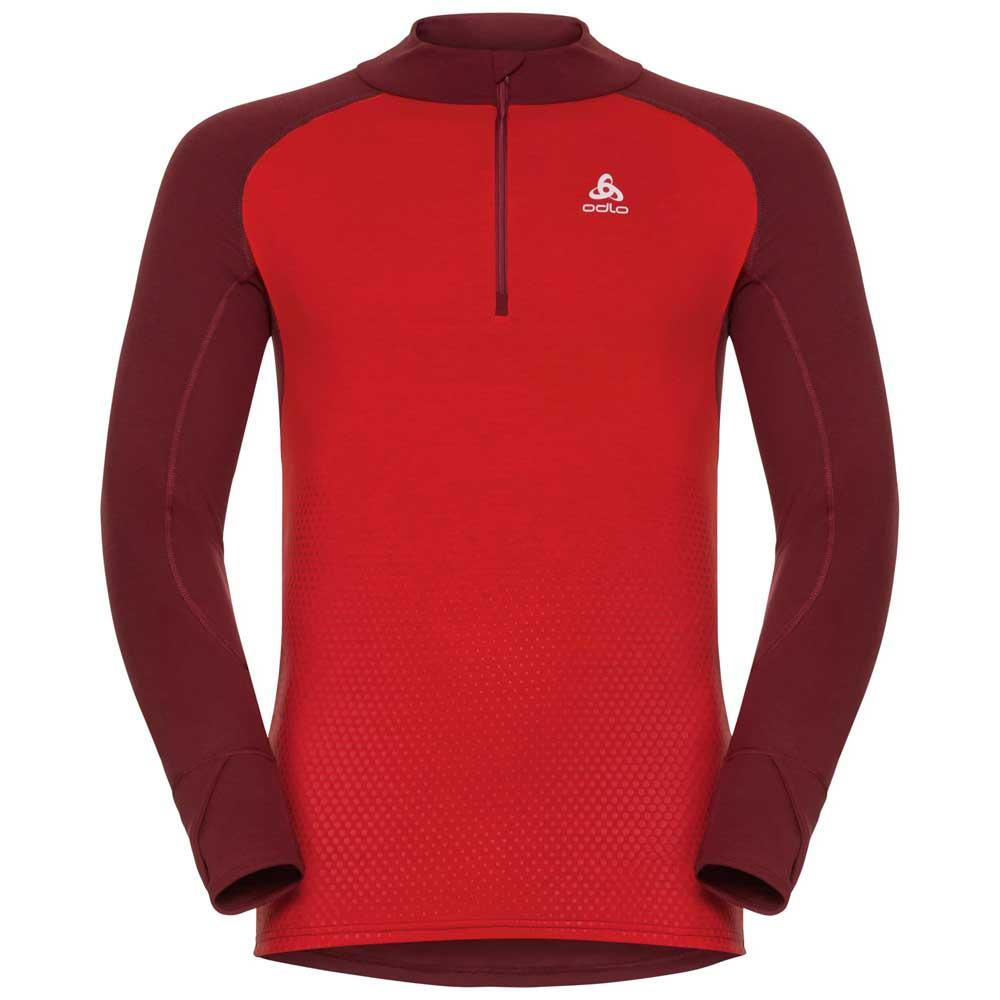 Turtle RedRunnerinn Top Zip Odlo 12 Warm Active Suw Neck Revelstoke PTZOkiuX
