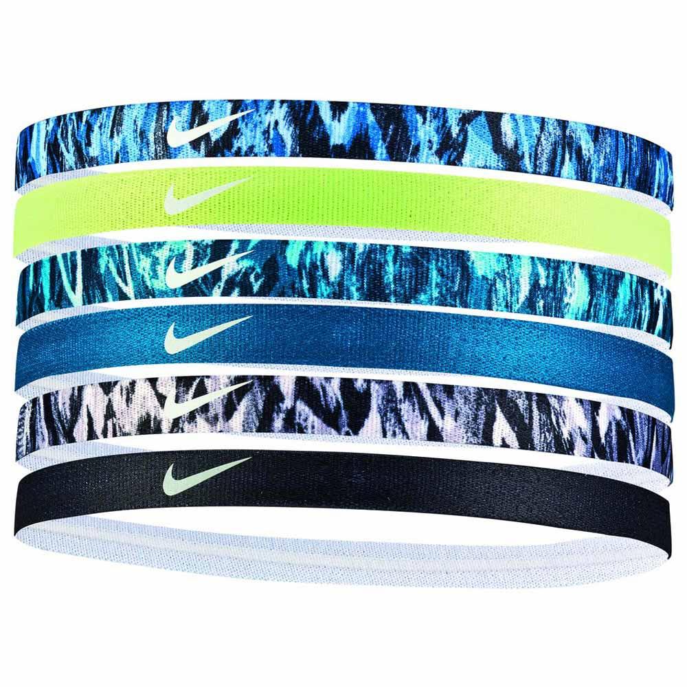 constructor prisa educación  Nike accessories Printed Headbands Assorted 6 Pack Blue, Runnerinn