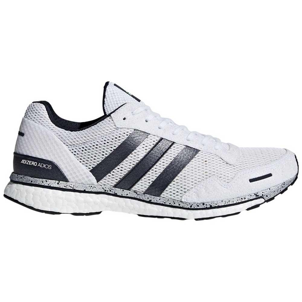 new concept 9b095 dbfa9 adidas Adizero Adios 3 White buy and offers on Runnerinn
