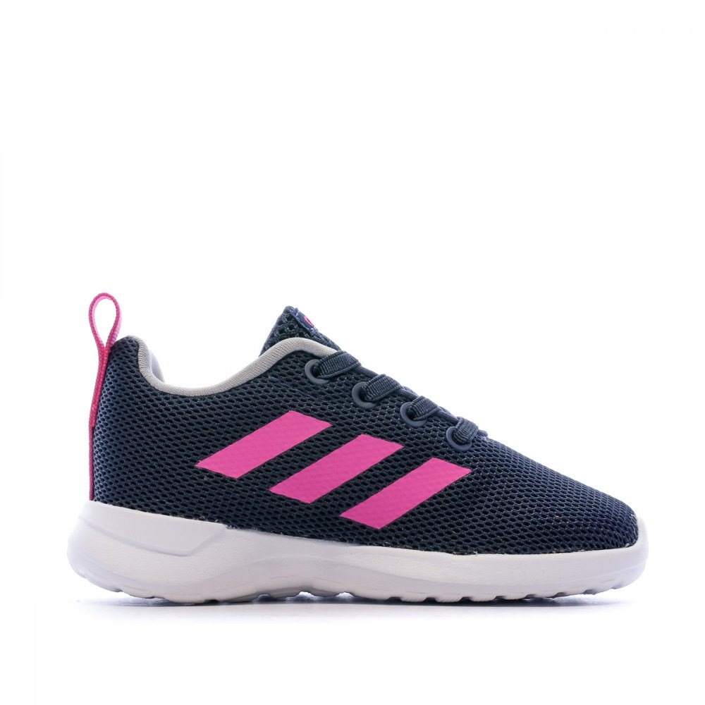adidas Lite Racer CLN Shoes Kids trace blue shock pink footwear white