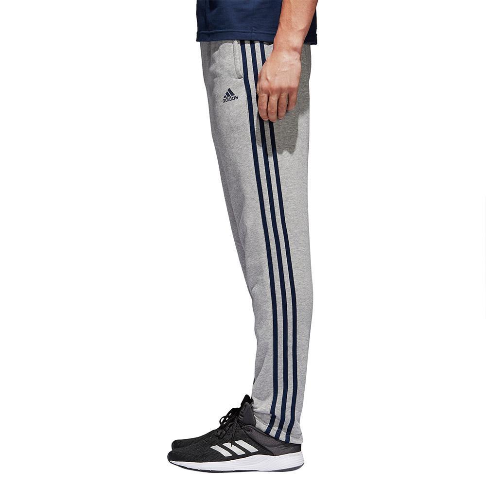 3a0f9ba7a3d7f adidas Essentials 3 Stripes Tapered Pants Long Cinzento, Runnerinn
