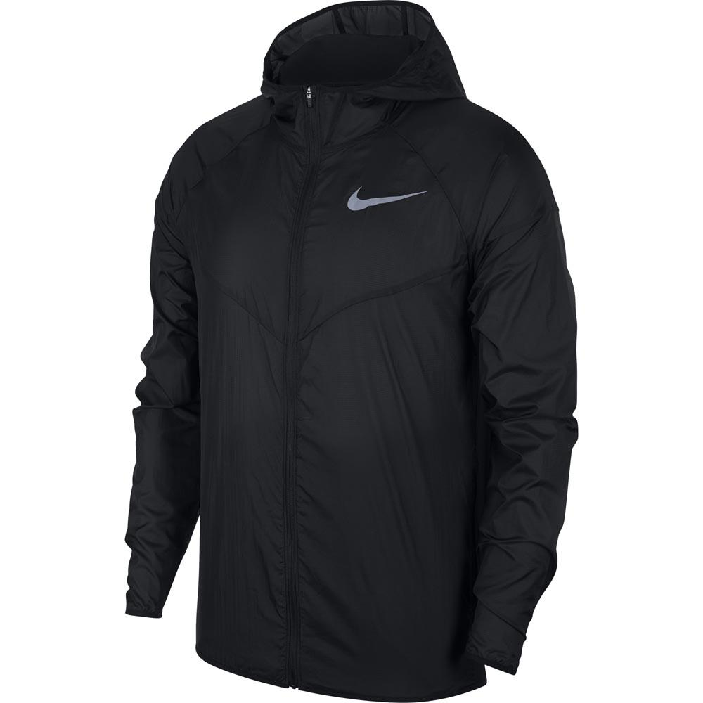 Nike Soft Shell Mens Running Jacket Black