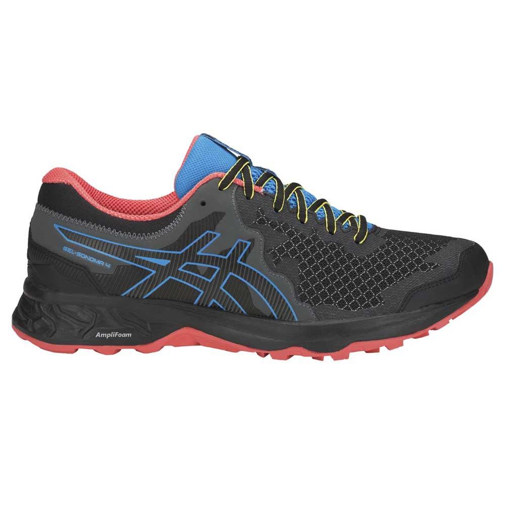 Asics Gel Sonoma 4 Trail Running Shoes Black, Runnerinn
