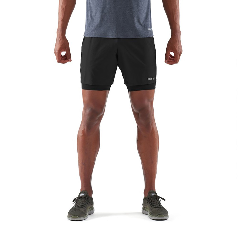 Skins dnamic équipe Homme Compression Short Collants-Noir