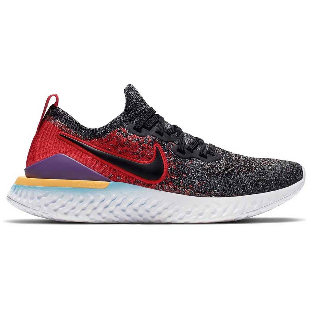 Nike Epic React Flyknit 2 GS Cinzento, Runnerinn Sapatos running
