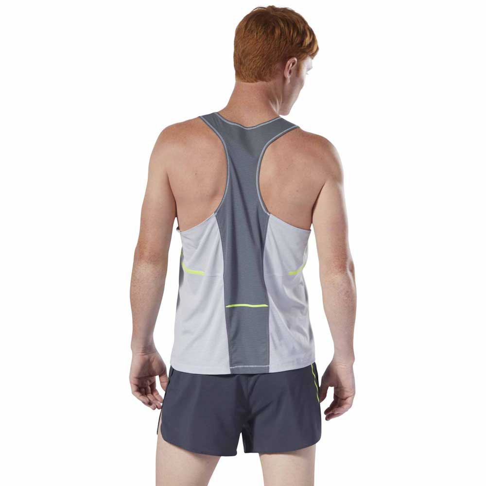 Clothing & Accessories Reebok Bolton Track Club Mens Running Singlet Grey