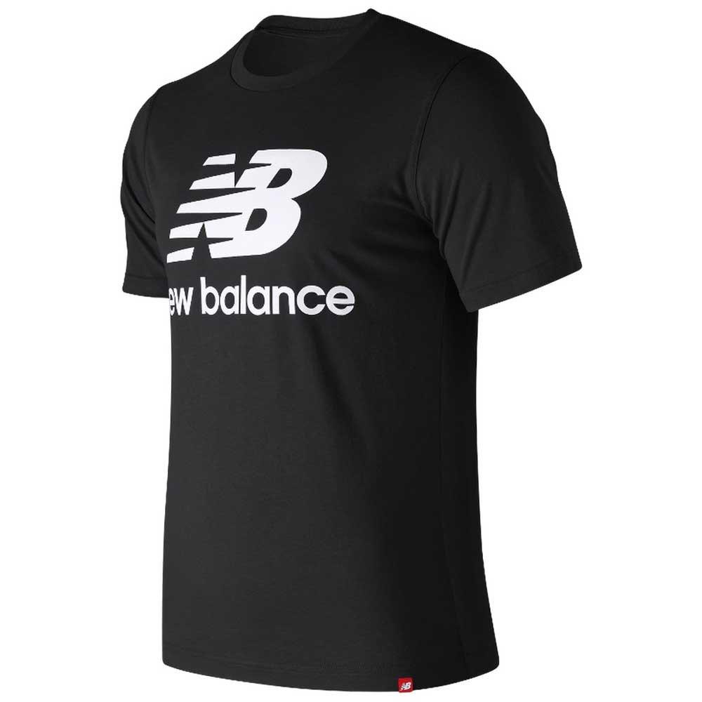 ac2d1d545481c New balance Essentials Stacked Logo Tee Black, Runnerinn