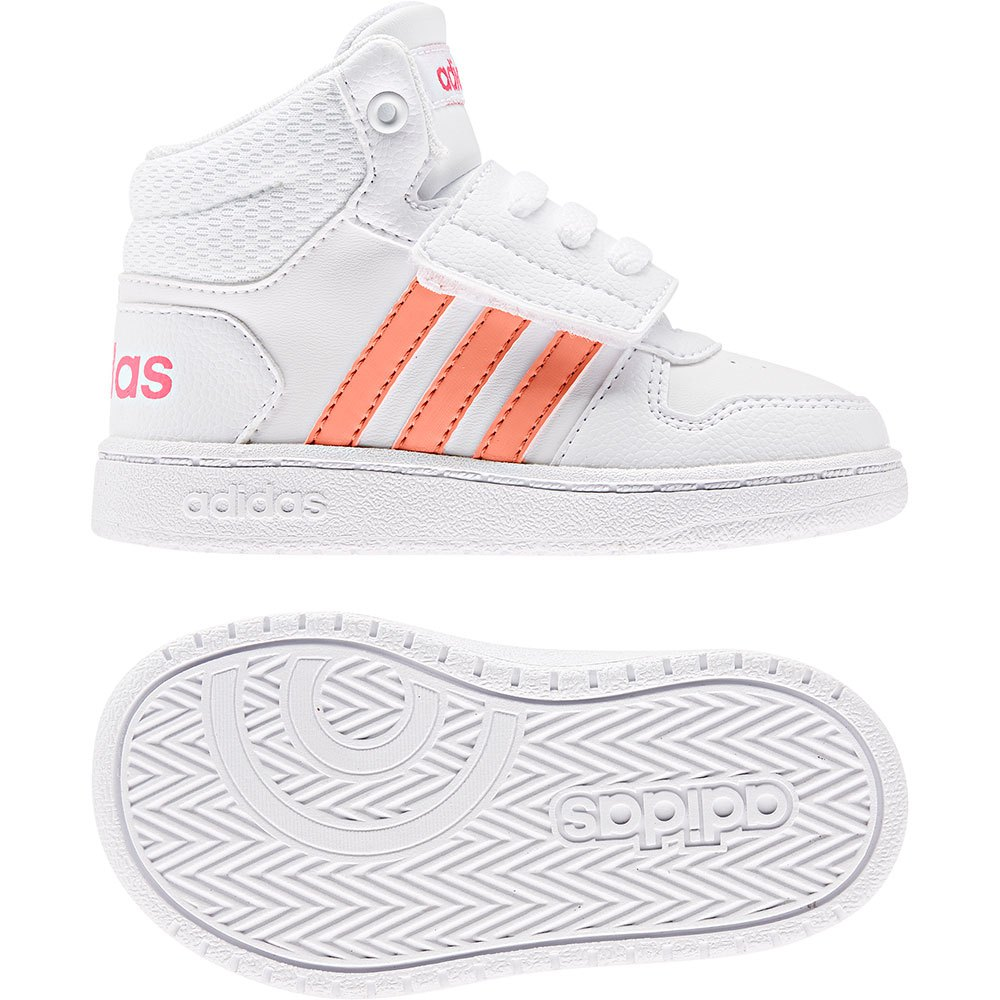 adidas Hoops Mid 2.0 Infant White buy
