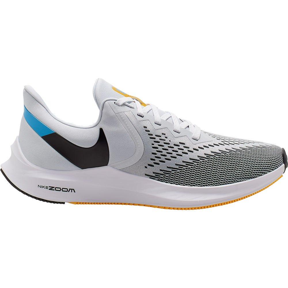 Nike Chaussures Running Zoom Winflo 6 Gris, Runnerinn