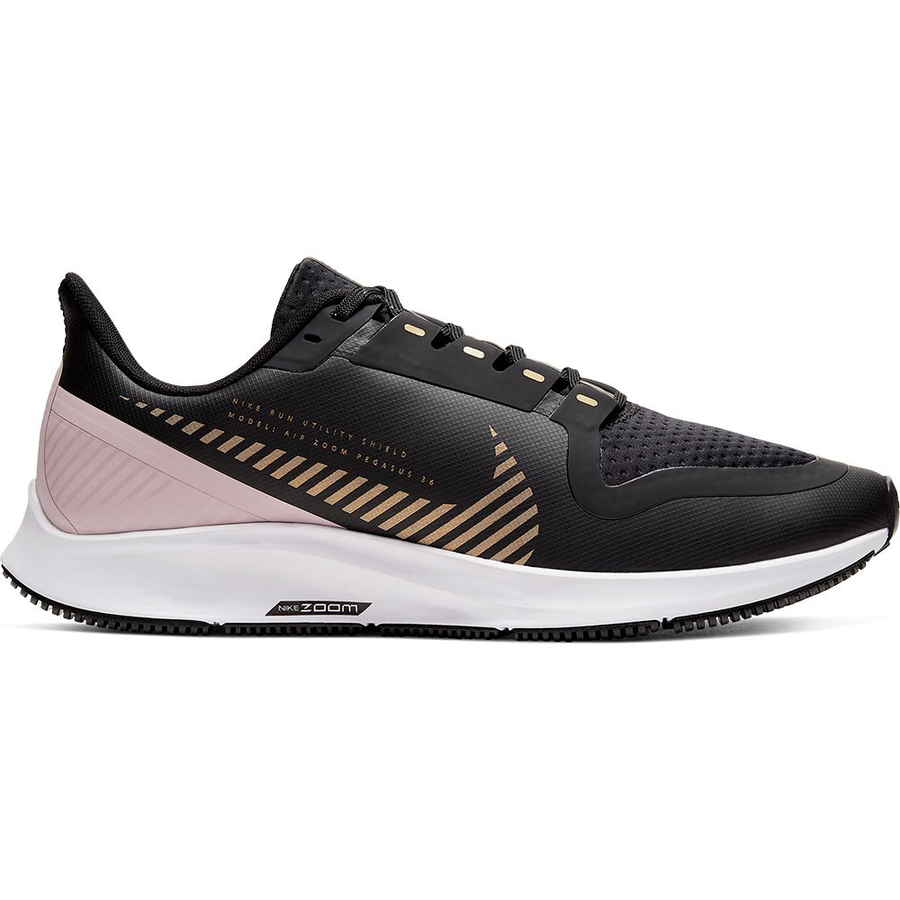 Nike Air Zoom Pegasus 36 Shield EU 38 Dark Smoke Grey / Metallic Gold / White