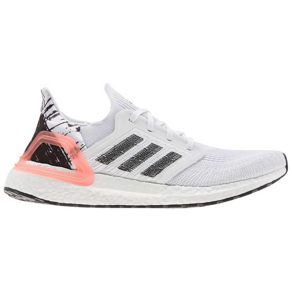 Adidas Ultraboost 20 EU 44 23 Footwear White Core Black Signal Coral