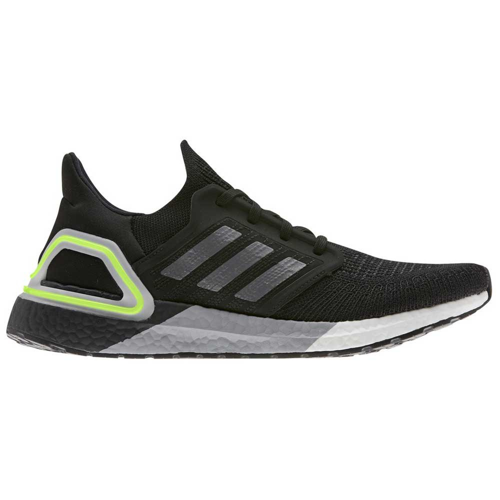 Adidas Ultraboost 20 EU 46 Core Black / Night Metal / Signal Green