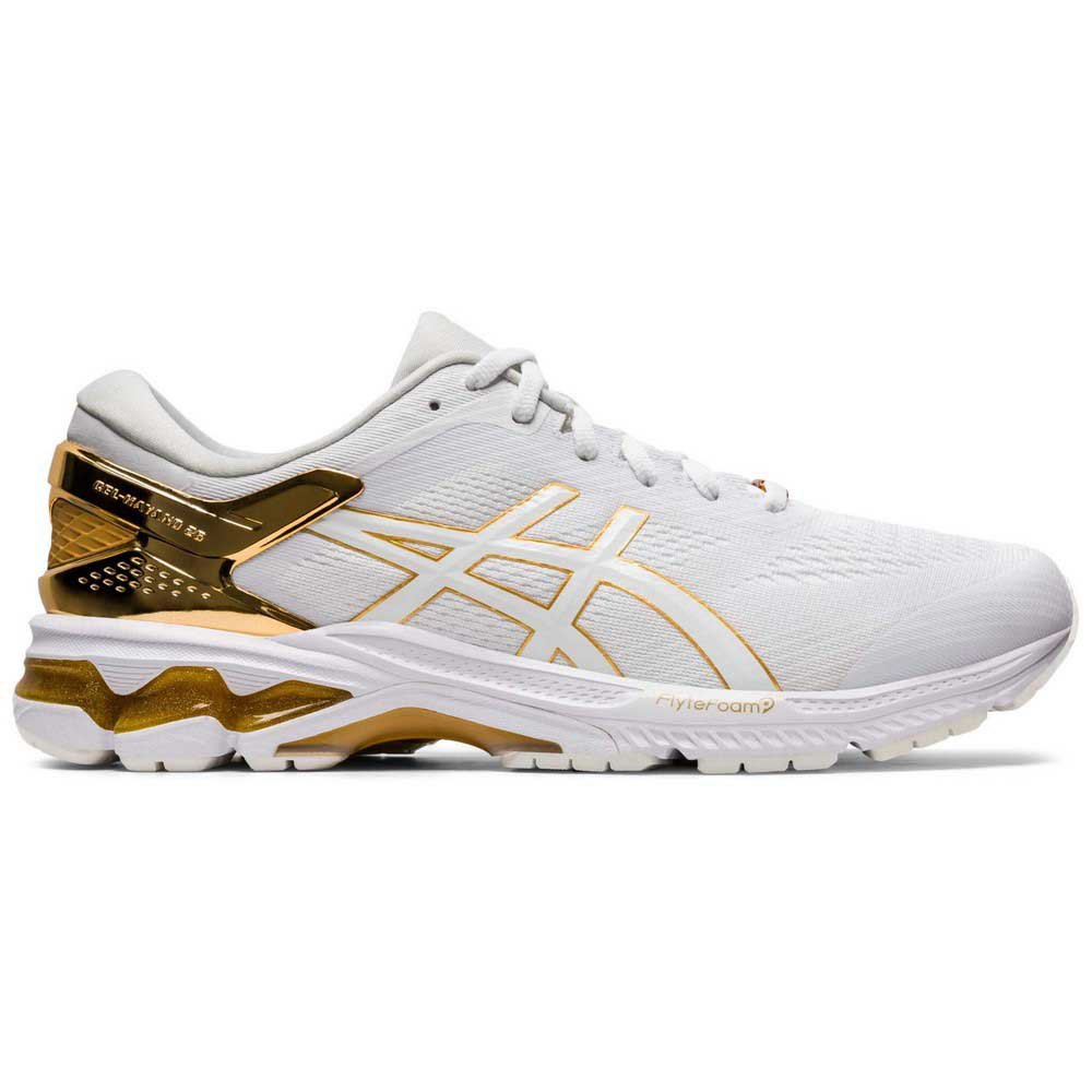 Asics Gel Kayano 26 Platinum EU 44 White / Pure Gold