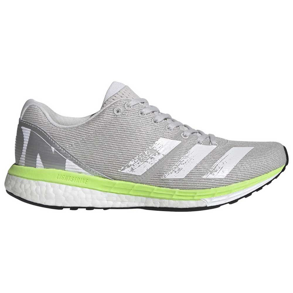 Adidas Adizero Boston 8 EU 41 1/3 Grey One / Footwear White / Signal Green