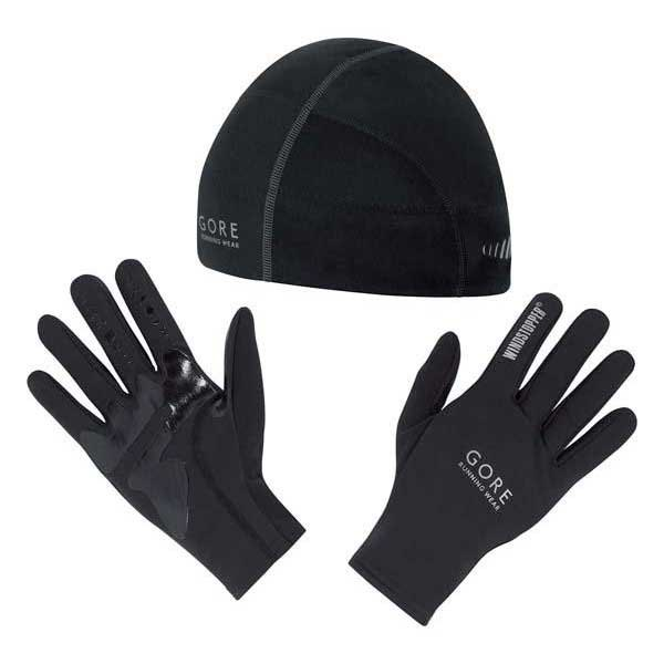 Gore running Kit Magnitude Windstopper Beany & Gloves