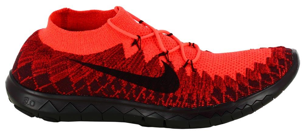 Running Nike Free 3.0 Flyknit Bright Crimson   Black 661523 P Japan