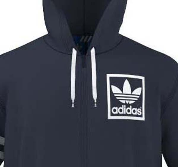 adidas men's originals 3foil full zip hoodie