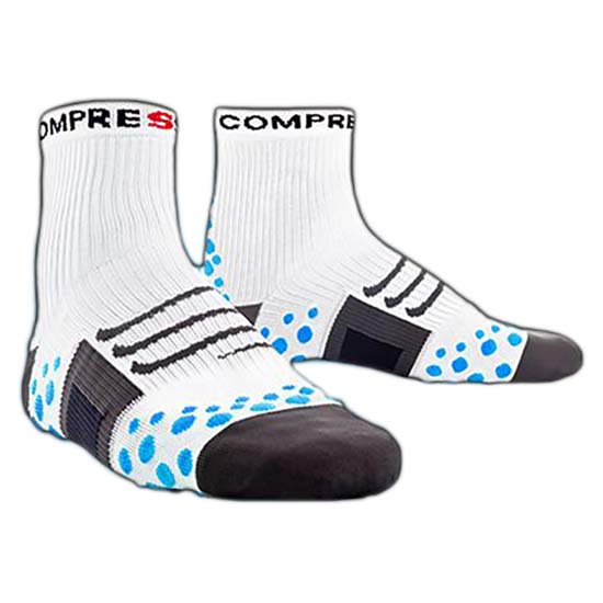 Compressport Sock Bike High White Blue