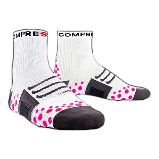 Compressport Sock Bike High White Pink