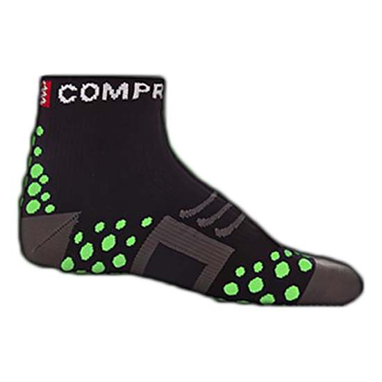 Compressport Sock Run High Black Green