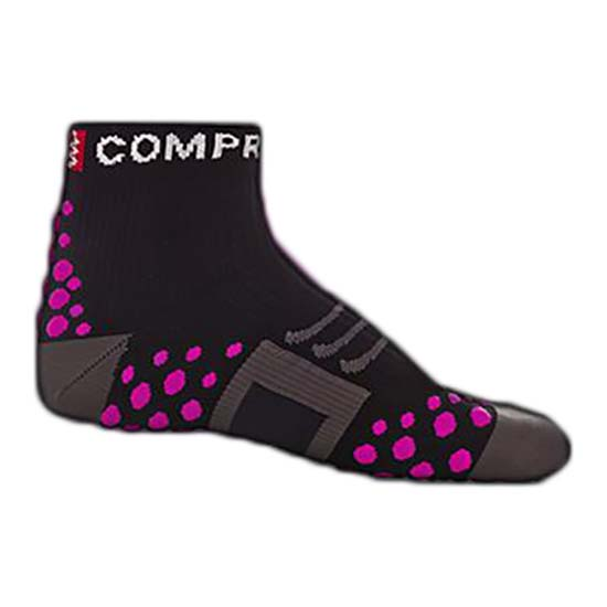 Compressport Sock Run High Black Pink