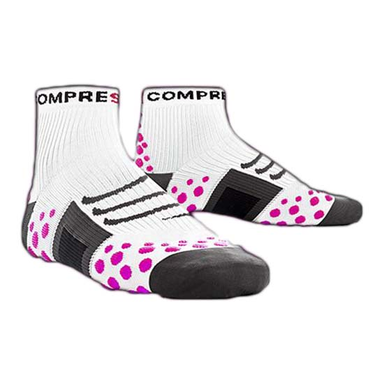 Compressport Sock Run High White Pink