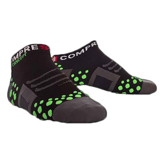 Compressport Sock Run Low Black Green
