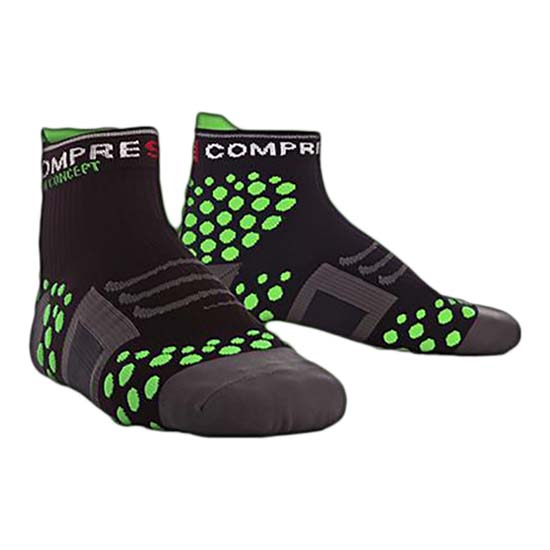 Compressport Sock Trail High Black Green