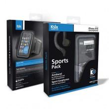 Ksix Sport Pack Headphones + Armband Iphone 4/4S