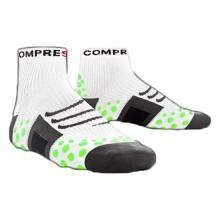 Compressport Sock Run High White Green